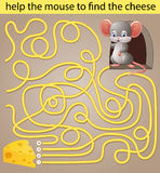 Help the mouse to find the cheese Royalty Free Stock Photos