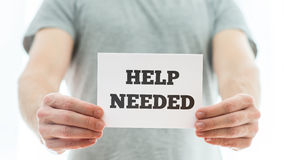 Help needed Royalty Free Stock Photo