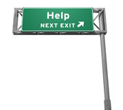 Help - Next Exit Sign (Isolated Version) Royalty Free Stock Image