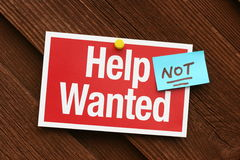Help Not Wanted Sign Royalty Free Stock Photography