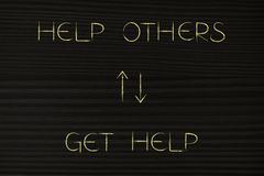 Help others more to get more help back Stock Photo