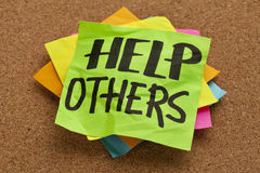 Help others reminder Royalty Free Stock Photos