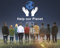 Help Our Planet Environmental Conservation Support Concept Stock Image