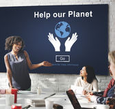 Help Our Planet Environmental Conservation Support Concept Royalty Free Stock Photography