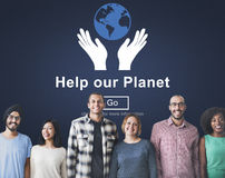 Help Our Planet Environmental Conservation Support Concept Stock Photo