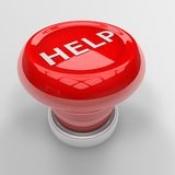 Help panic button. 3d render of red help panic button Royalty Free Stock Image