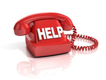 Help phone 3d icon Stock Photos