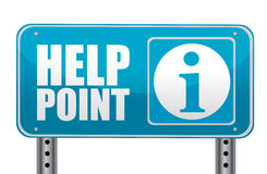 Help point. Sign isolated over a white background Royalty Free Stock Image