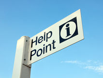 Help Point Sign Royalty Free Stock Images
