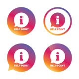 Help point sign icon. Information symbol. Stock Photography