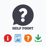 Help point sign icon. Question symbol Stock Photography