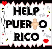 Help Puerto Rico 2 Royalty Free Stock Images
