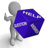 Help Question Answer Dice Showing Knowledge And Assistance Royalty Free Stock Photography