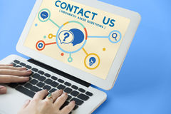 Help Question Contact us Information Concept Stock Image