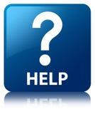 Help (question icon) blue square button Stock Photo