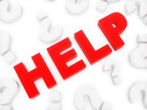 Help and question mark Royalty Free Stock Images