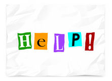 Help Ransom Note Call Plea Message Emergency Royalty Free Stock Photo