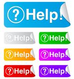 Help, rectangular stickers Royalty Free Stock Photography