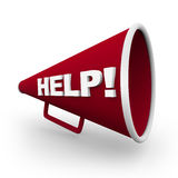 Help - Red Bullhorn Royalty Free Stock Image