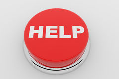 HELP - red button Royalty Free Stock Images