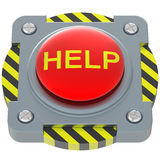 Help red button. Isolated on white background Royalty Free Stock Photography
