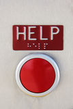 HELP Red Emergency Button with brail Stock Images