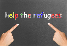 Help the refugees Stock Photo