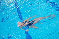 Help and rescue on swimming pool Stock Images