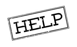 Help rubber stamp Royalty Free Stock Photo