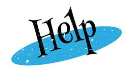Help rubber stamp Stock Photo