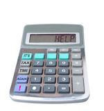 Help. It's tax time again. A calculator displaying the word help because it's tax time again. Need relief Royalty Free Stock Photography