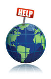Help Save The Planet. Illustration isolated over a white background Stock Photography