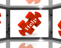 Help On Screen Showing Counseling Stock Image