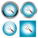 Help search buttons Stock Photography