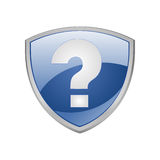 Help shield blue icon Royalty Free Stock Photo