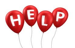 Help Sign Balloons Stock Photo