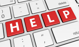 Help Sign Computer Keys Stock Images