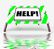 Help Sign Displays Assistance Wanted and Seeking Answers Royalty Free Stock Photo