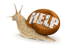 Help Snail (clipping path included) Stock Photo