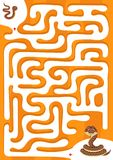 Help snake find the son. Maze game for kids. Worksheet for education Stock Image