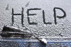 Help, Snowfall Royalty Free Stock Image