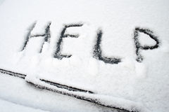 Help, snowfall Royalty Free Stock Photo