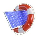 Help solar panel Stock Photo