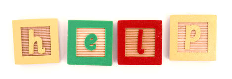 HELP spelled with blocks Stock Image