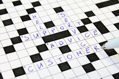 Help, Support, Advice, Customer, Service Crossword Royalty Free Stock Image