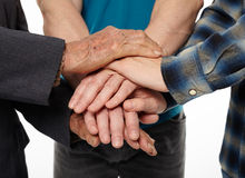 Help and support between generations Stock Photo
