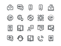 Help and Support. Set of outline vector icons. Help and Support. Set of outline vector icons on a white background Stock Image