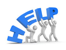 Help. Teamwork metaphor Royalty Free Stock Photo