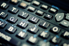 Help text on keyboard Stock Photography