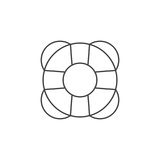 Help thin line icon, lifebuoy outline vector logo illustration,. Linear pictogram isolated on white Stock Photo